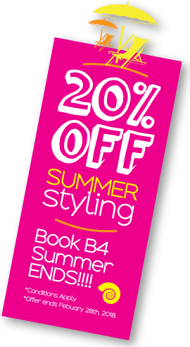 20% off summer styling